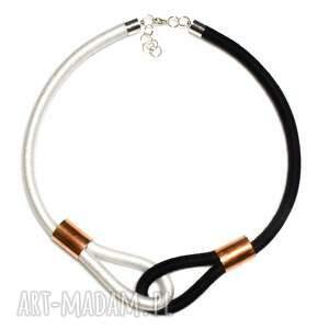 białe naszyjniki minimalistyczny naszyjnik multicolor black & white