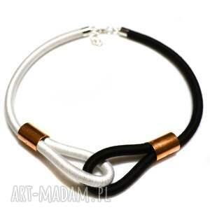 naszyjniki minimalistyczny naszyjnik multicolor black & white