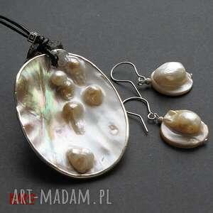 naszyjnik naszyjniki białe nienarodzone perły