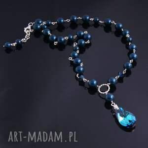swarovski naszyjniki niebieskie naszyjnik night blue
