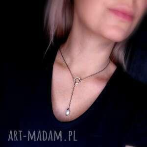 naszyjniki: Naszyjnik przekładany z perłą - srebro 925 z perla