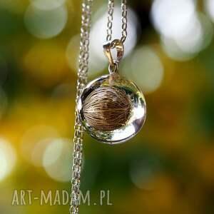 natura naszyjniki naszyjnik roślinny malaga, srebrny