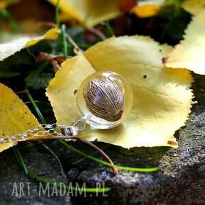 unikatowe naszyjniki natura naszyjnik roślinny malaga, srebrny