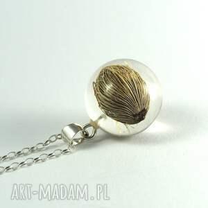 brązowe naszyjniki żywica naszyjnik roślinny malaga, srebrny