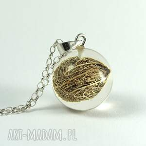 frapujące naszyjniki żywica naszyjnik roślinny malaga, srebrny