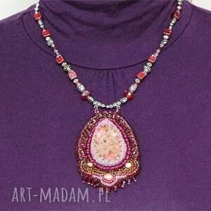 oryginalne naszyjniki elegancki naszyjnik - różowy jaspis