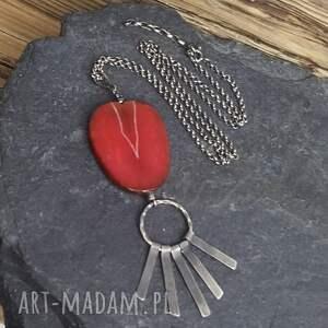 nietypowe naszyjniki biżuteria autorska naszyjnik srebrny z agatem