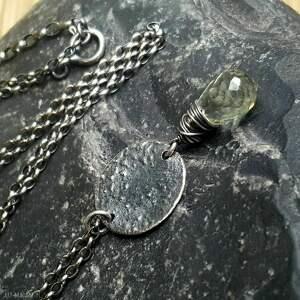 biżuteria na prezent naszyjniki naszyjnik srebrny z fasetowaną