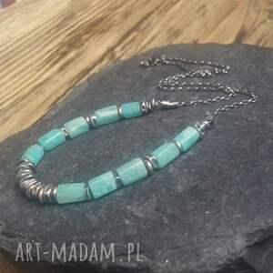 naszyjniki biżuteria na prezent naszyjnik srebrny z amazonitem