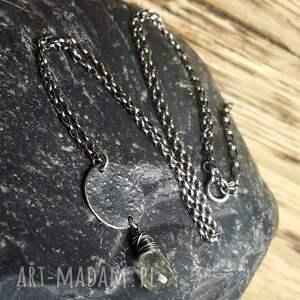 naszyjniki biżuteria na prezent naszyjnik srebrny z fasetowaną