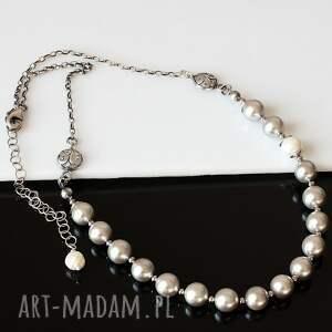 białe naszyjniki perły delikatny naszyjnik wykonany z pereł seashell