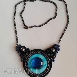 niebieskie naszyjniki naszyjnik sutasz z masą perłową