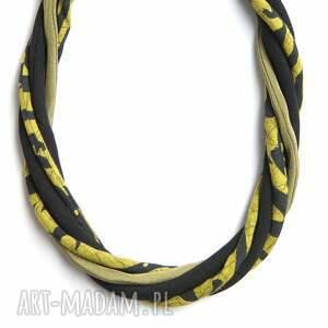 niesztampowe naszyjniki materiałowy naszyjnik tekstylny, długi