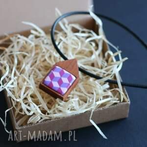 naszyjnik naszyjniki w fioletcie