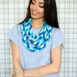 turkusowe naszyjniki bawełna naszyjnik warkocz color sheyk 9