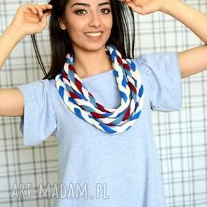bawełna naszyjniki turkusowe naszyjnik warkocz color sheyk 8