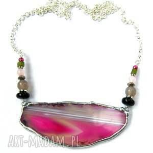 unikatowe naszyjniki naszyjnik-z-agatem naszyjnik z agatem: różowy