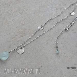 naszyjniki srebro naszyjnik z akwamarynem i