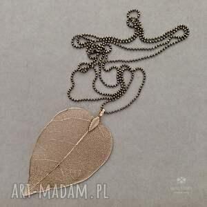 naszyjniki naszyjnik z ażurowym liściem