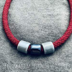 gustowne naszyjniki bordo naszyjnik z bordowego sznura