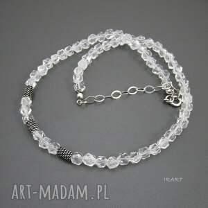naszyjniki srebro naszyjnik z bryłek kryształu