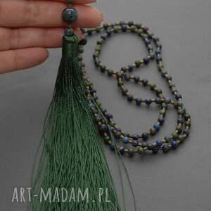 niebieskie naszyjniki elegancki naszyjnik z chryzokol&#261