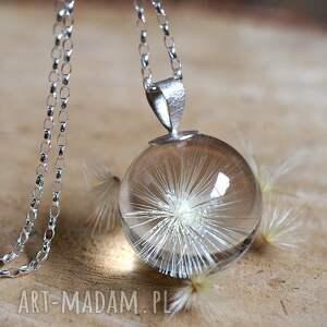 srebrne naszyjniki dmuchawiec naszyjnik z dmuchawcem ostropestu