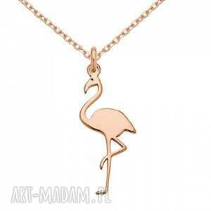 naszyjniki modny naszyjnik z flamingiem z różowego
