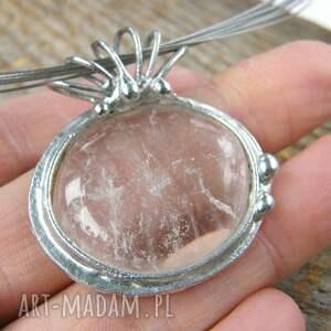 białe naszyjniki naszyjnik z-kryształem: z gładkim kryształem