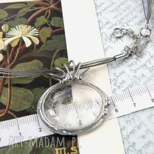 handmade naszyjniki naszyjnik z-kryształem: z gładkim kryształem