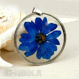 naszyjniki naszyjnik z-kwiatów z granatowej margerytki