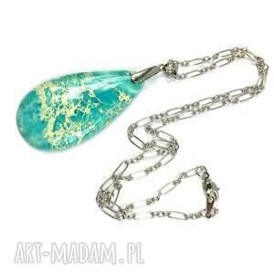 turkusowe naszyjniki naszyjnik z jaspisem lazurowe