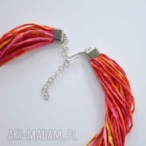 czerwone naszyjniki czerwonynaszyjnik naszyjnik z jedwabiu - energetyczne