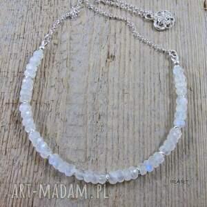 naszyjniki: Naszyjnik z kamienia księżycowego - handmade srebro
