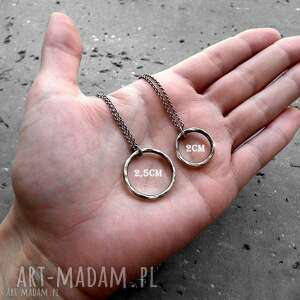 naszyjniki geometryczny naszyjnik z kółkiem 2cm - srebro