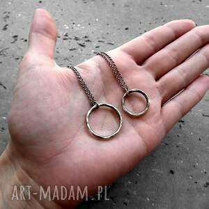 okrągły naszyjniki naszyjnik z kółkiem mniejszym