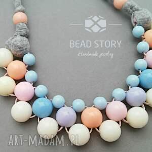 handmade naszyjniki korale naszyjnik z korali kremowych