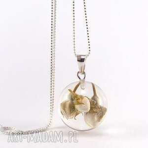 srebrne naszyjniki natura naszyjnik z kremowymi różyczkami