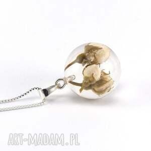 oryginalne naszyjniki żywica naszyjnik z kremowymi różyczkami