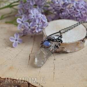 modne naszyjniki naszyjnik kryształ z kryształem górskim