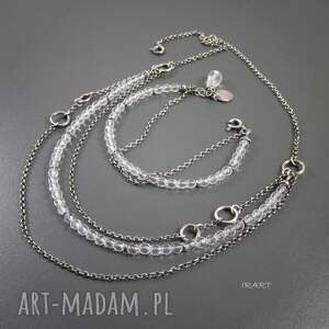 srebro naszyjniki naszyjnik z kryształu