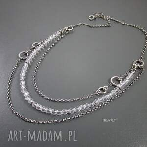 naszyjniki srebro naszyjnik z kryształu