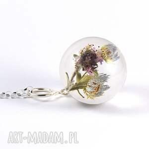 srebrne naszyjniki żywica naszyjnik z kwiatami żywicy