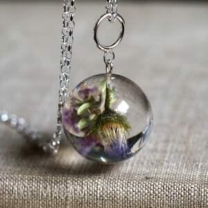 modne naszyjniki żywica naszyjnik z kwiatami żywicy
