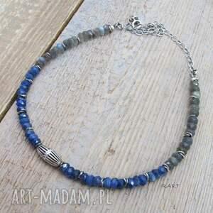 niebieskie naszyjniki srebro naszyjnik z kyanitem i labradorytem