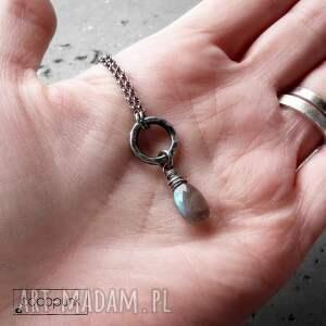 niepowtarzalne naszyjniki delikatny naszyjnik z labradorytem- srebro