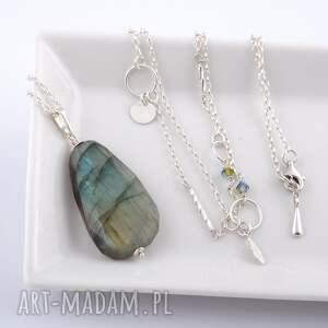 unikalne naszyjniki srebrny naszyjnik z labradorytem