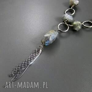 ręcznie wykonane naszyjniki srebro naszyjnik z labradorytu