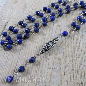 IRART niepowtarzalne naszyjniki lapis naszyjnik z lazuli w srebrze