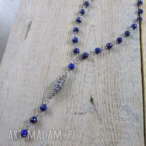 lazuli naszyjniki naszyjnik wykonany z fasetowanych kul lapis